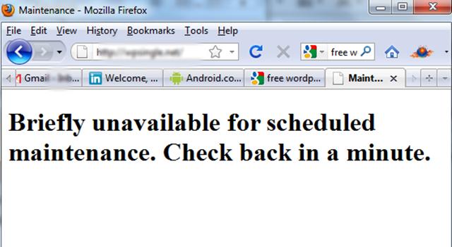 Image result for Maintenance Mode Error wp