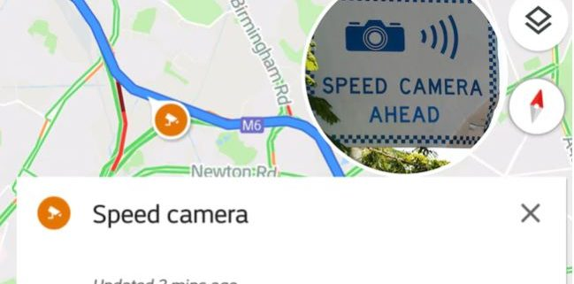Google Maps Speed Camera Update
